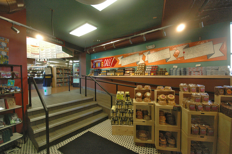 This Zingerman's display area connects the addition to the old building