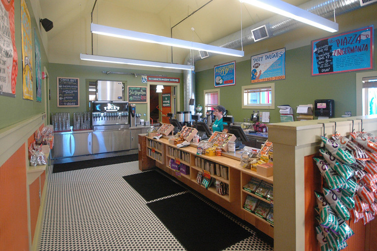 Zingerman's new checkout area is light and spacious compared to the original building