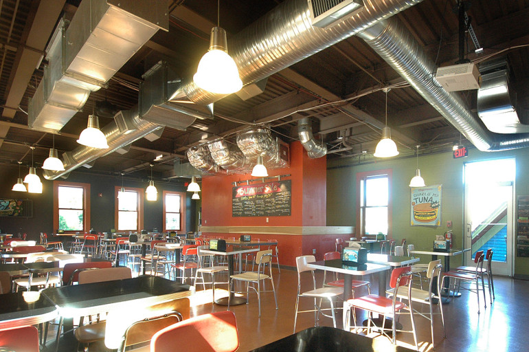 Zingerman's new upper-level seating area