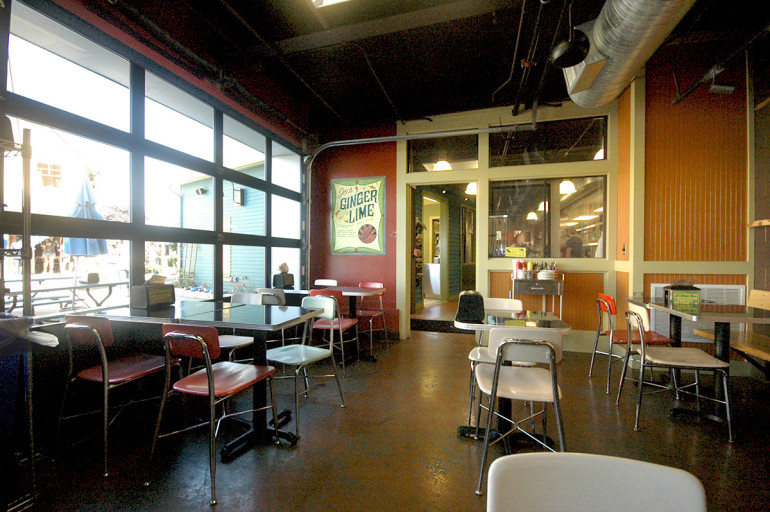 Zingerman's new dining area opens to teh patio inwarmer months