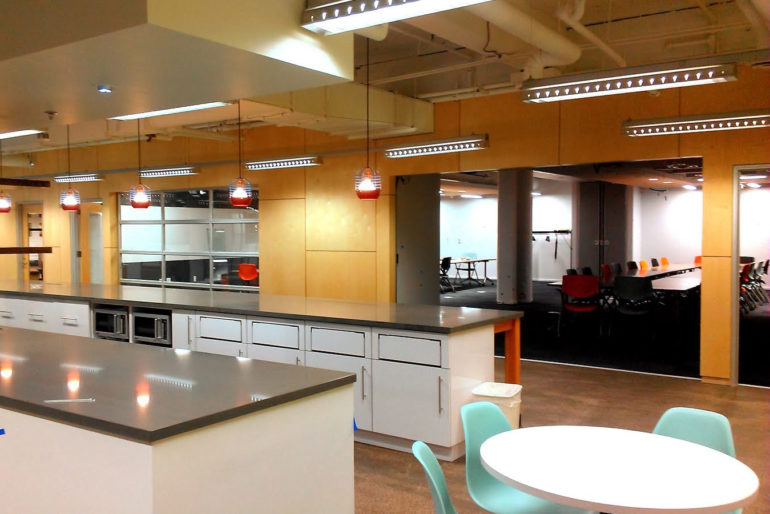 Tech town kitchen area