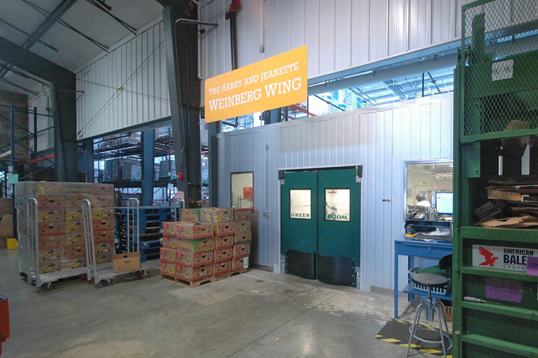 Food Gatherers warehouse Weinberg Wing