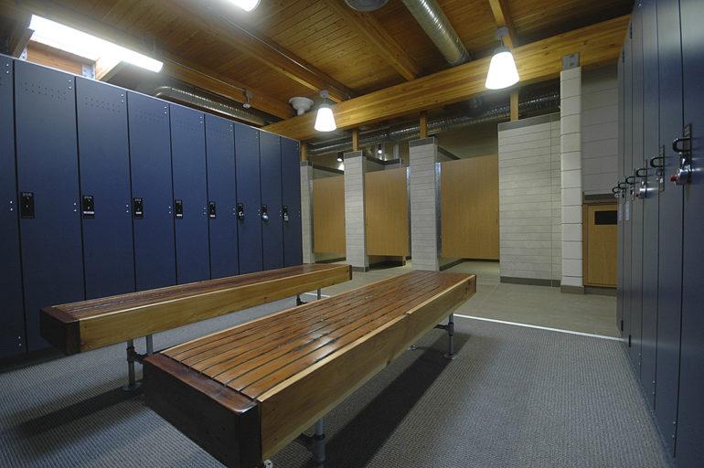 Ann Arbor Racquet Club tennis building locker room