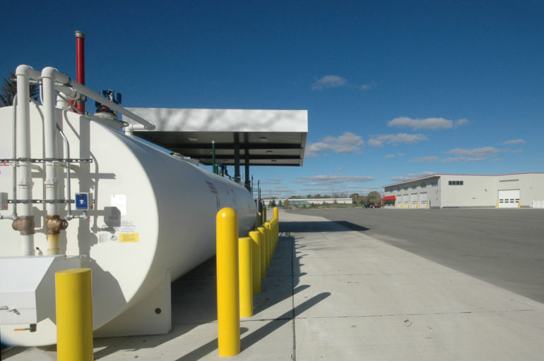 Fueling depot at Washtenaw County Road Commission Northeast Service Center