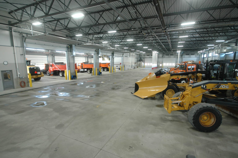 Garage area at Washtenaw County Road Commission Northeast Service Center