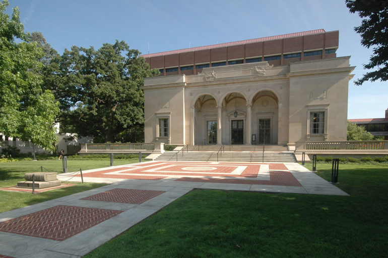 University of Michigan Clements Library piazza